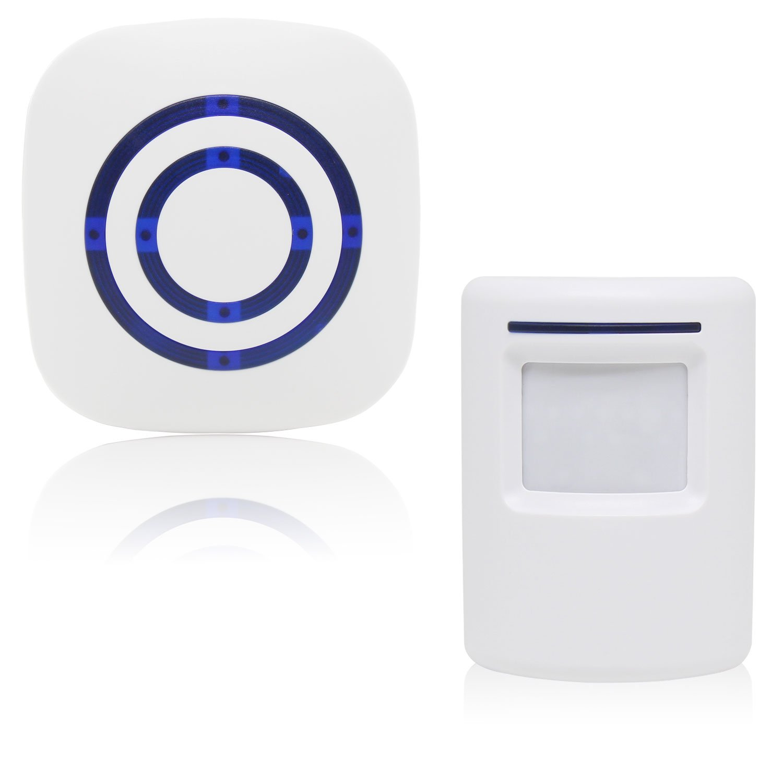 Xcellent Global Wireless Driveway Alert Infrared Sensor Home Security Door Bell Alarm with Plug-in Receiver and 38-Ringtones HG169S
