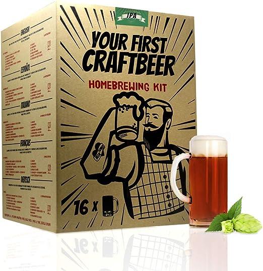 Kit de extracto para hacer cerveza IPA   Tu primera cerveza casera   8 litros   Incluye densímetro   Elabora cerveza artesanal: Amazon.es: Hogar