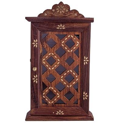 Superb Craftsmanu0027 Wooden Wall Hanging Decorative Key Box /Key Rack Cabinet/hanger