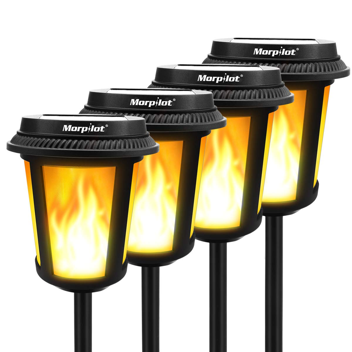 These are amazing and look fantastic in my yard! Great solar lights with lots of different options, looks like real flames!