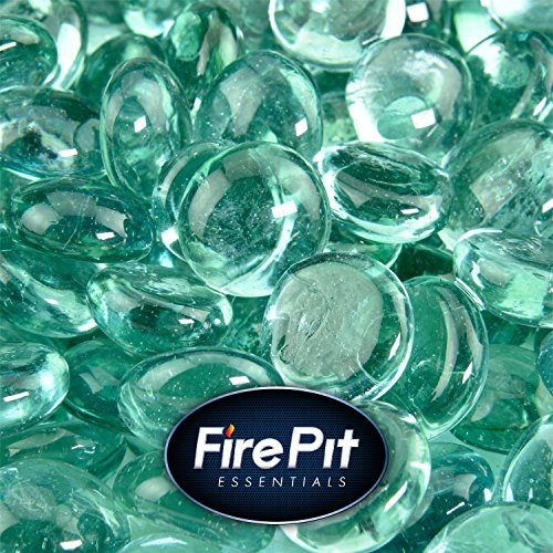 Sea Foam Green - Fire Glass Beads for Indoor and Outdoor Fire Pits or Fireplaces | 10 Pounds | 1/2 Inch by Fire Pit Essentials