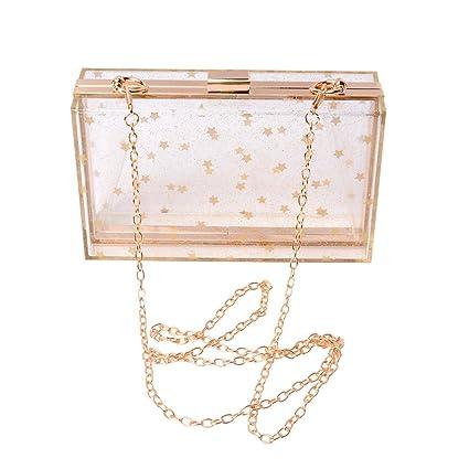 Amazon.com  WEDDINGHELPER Women Acrylic Transparent Gold Star Evening Bags  Purses Clutch Vintage Banquet Handbag (Transparent)  Home   Kitchen 9bef60579450