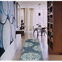 American Rug Craftsmen Mohawk Home Huxley Exploded Medallions Woven Rug, 2x710, Bay Blue