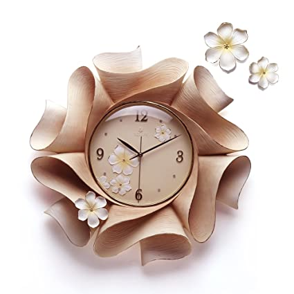 RELIFE Original Embossed Wall Decoration Handmade Clock For Living Room (gold)