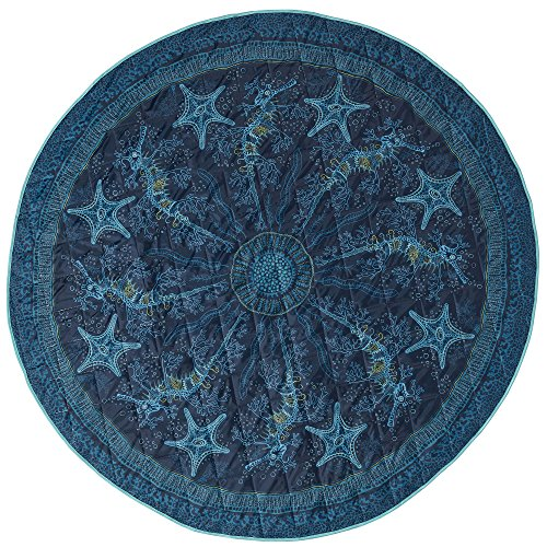 Lightspeed Outdoors Ocean Spirit Round Blanket Water Repellent Beach Blanket