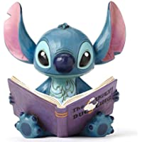"Jim Shore for Enesco 4048658 Disney Traditions ""Lilo and Stitch"" Stitch with a Storybook Stone Resin Figurine, 5.75"""