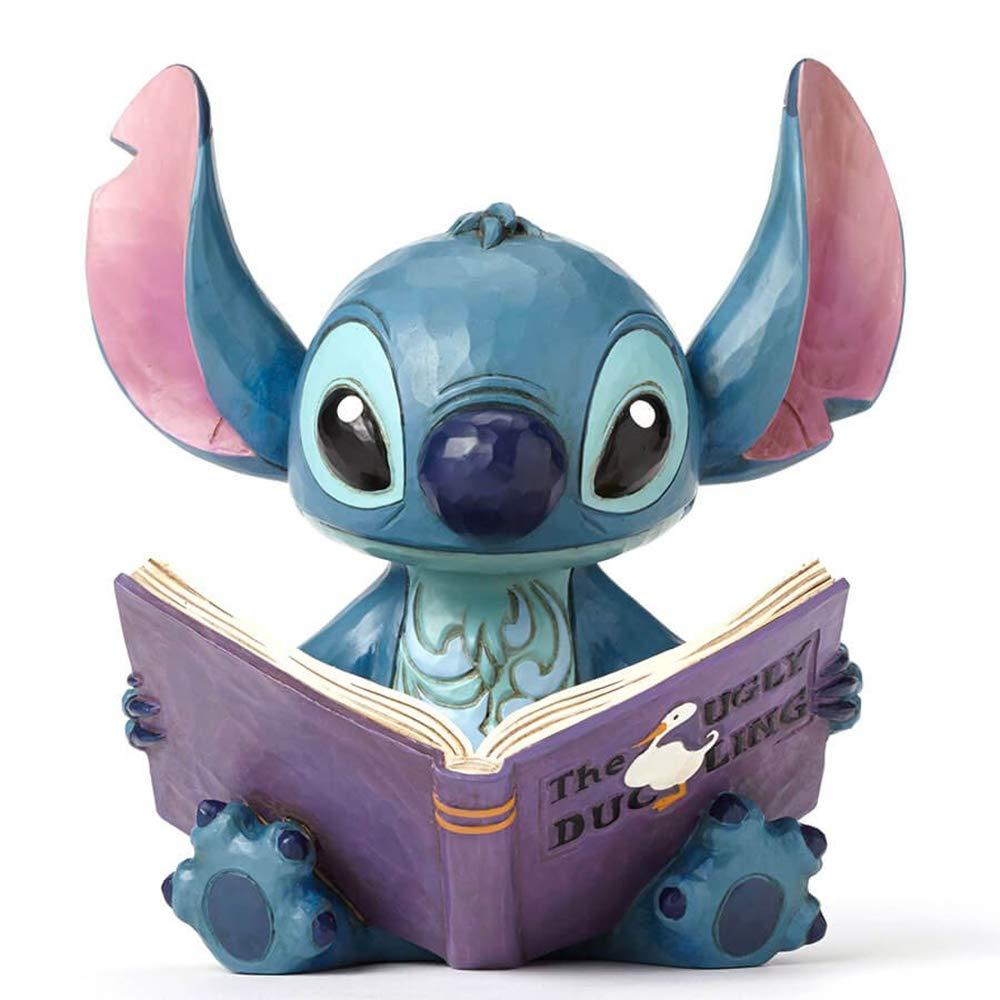 "Disney Traditions by Jim Shore ""Lilo and Stitch"" Stitch with a Storybook Stone Resin Figurine, 5.75"""