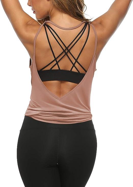 Amazon.com: LEXISLOVE Camisas de entrenamiento para mujer ...