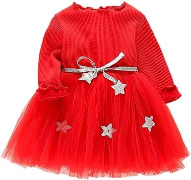 Tenue Noel Fille DAY8 Robe Noël Bébé Fille Cérémonie Hiver Robe Pull Bébé Fille