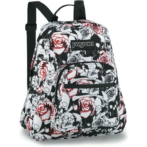 JanSport Women s Half Pint Backpack (Black White Skulls N Roses SM)  (B000ND1ZSK)   Amazon price tracker   tracking, Amazon price history  charts, ... ce0542ffa0