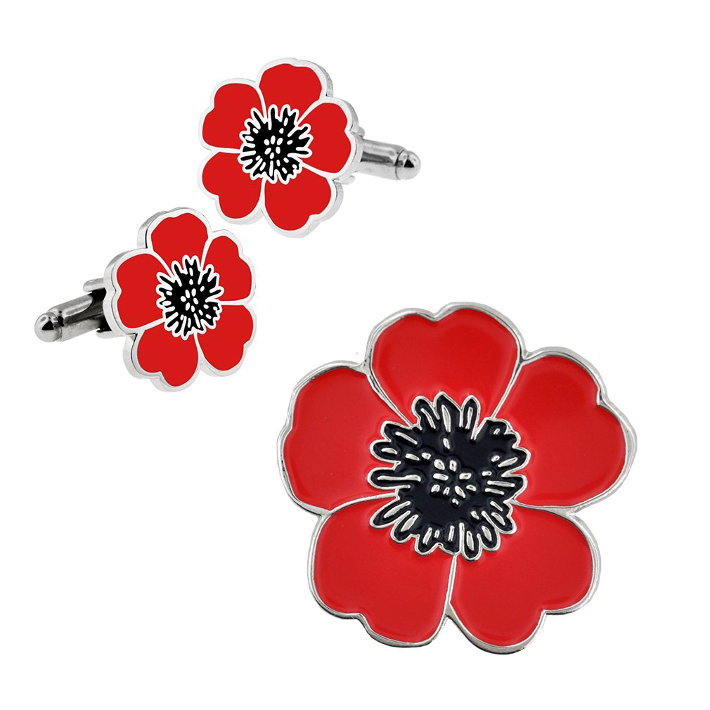 Amazon Pinmart Memorial Day Red Poppy Flower Lapel Pin And