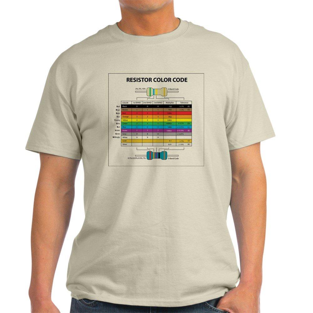 Cafepress Resistor Color Ash Grey T Shirt 100 Cotton Code Diagram Clothing