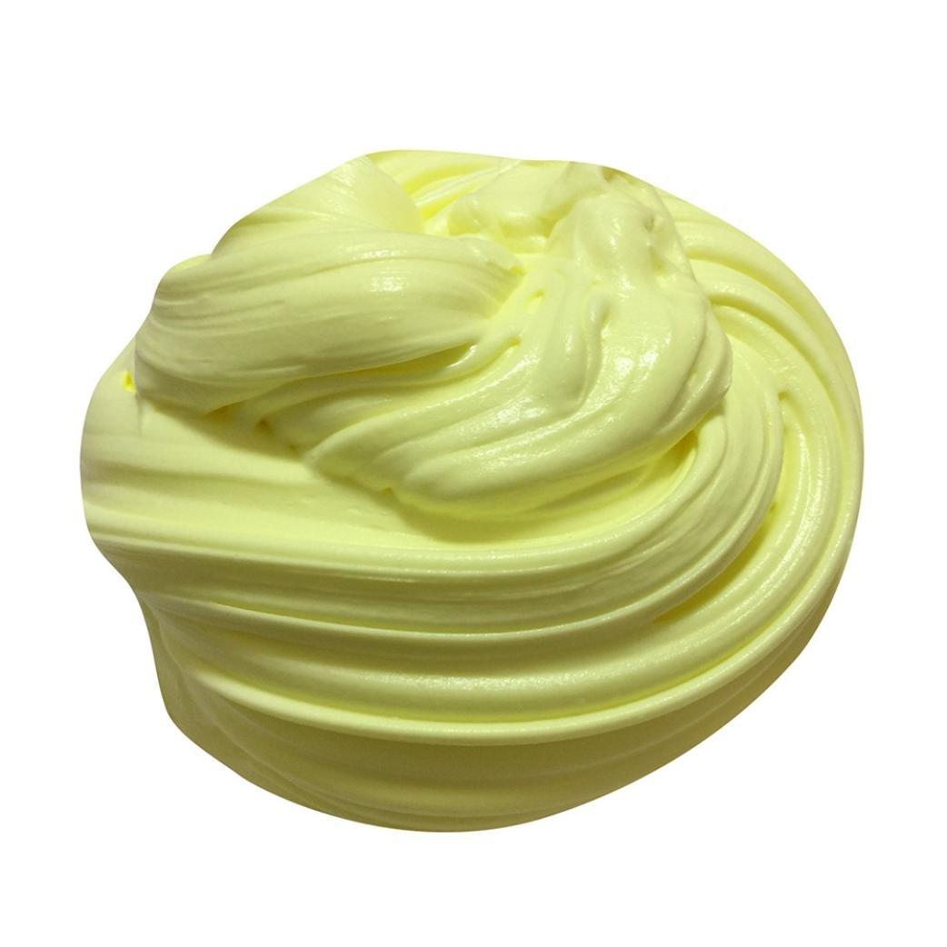Schleim in der dose, Gusspower Fluffy Floam Slime duftend Stress Relief kein Borax Kinder Spielzeug Schlamm Spielzeug 60ml (C)