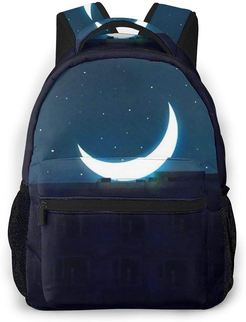 Hdadwy Boy A Lamp In Night Mochila Informal Tablet PC Mochila Escolar con Estilo para la Escuela Secundaria