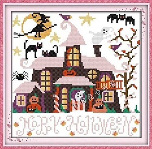 Happy Forever Cross Stitch,Disney Cartoon, Halloween hut -