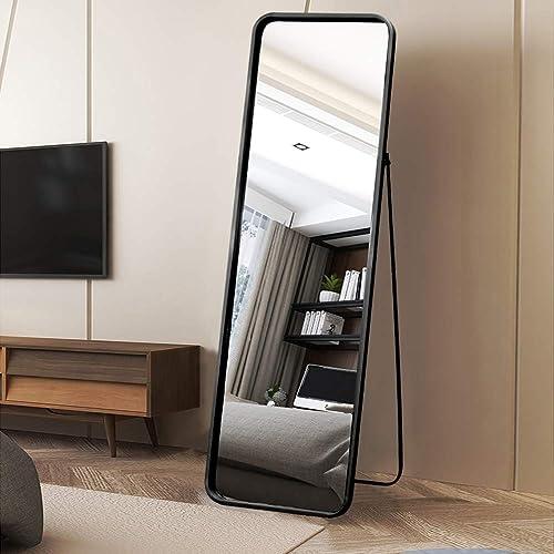 VINGLI Full Length Mirror Metal Frame Floor Mirror
