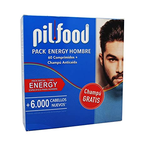 PILFOOD PACK ENERGY HOMBRE 60 COMPRIMIDOS+CHAMPU ANTICAIDA