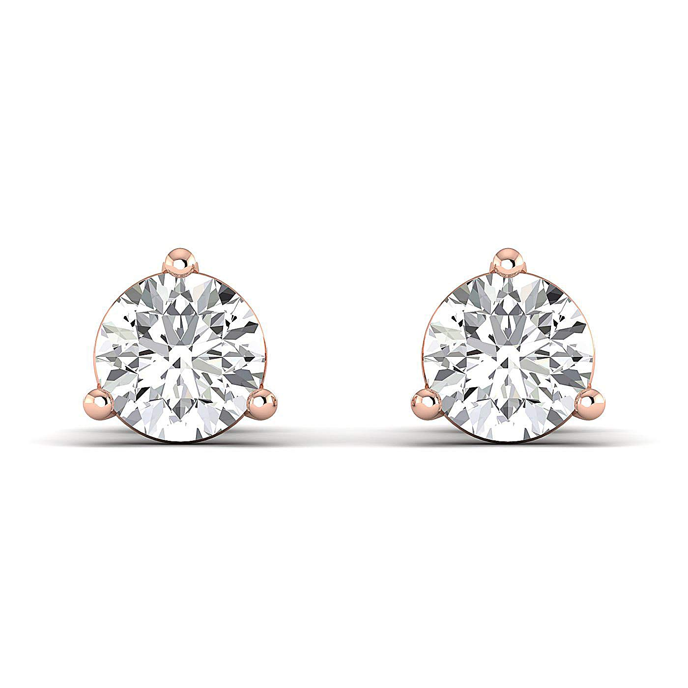 GH//VVS Earring Studs0.3 to 4 Carat Moissanite Stud Earrings /Pure Gold /& 925 Sterling Silver Stud Earrings for Women perfect Jewelry Gifts for Women Teen Girls Round Brilliant