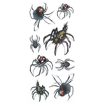 b5ca42ef3 COKOHAPPY Temporary Tattoo , 3D Black Widow Spider: Amazon.co.uk: Beauty