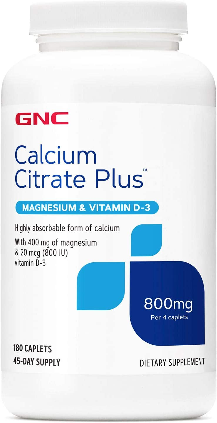 GNC Calcium Citrate Plus Magnesium & Vitamin D-3 800 mg
