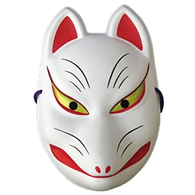 amazon com japanese traditional noh mask kitsune fox design clothing