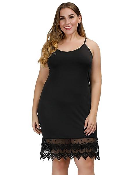 Hanna Nikole Women\'s Plus Size Adjustable Spaghetti Strap Slip ...
