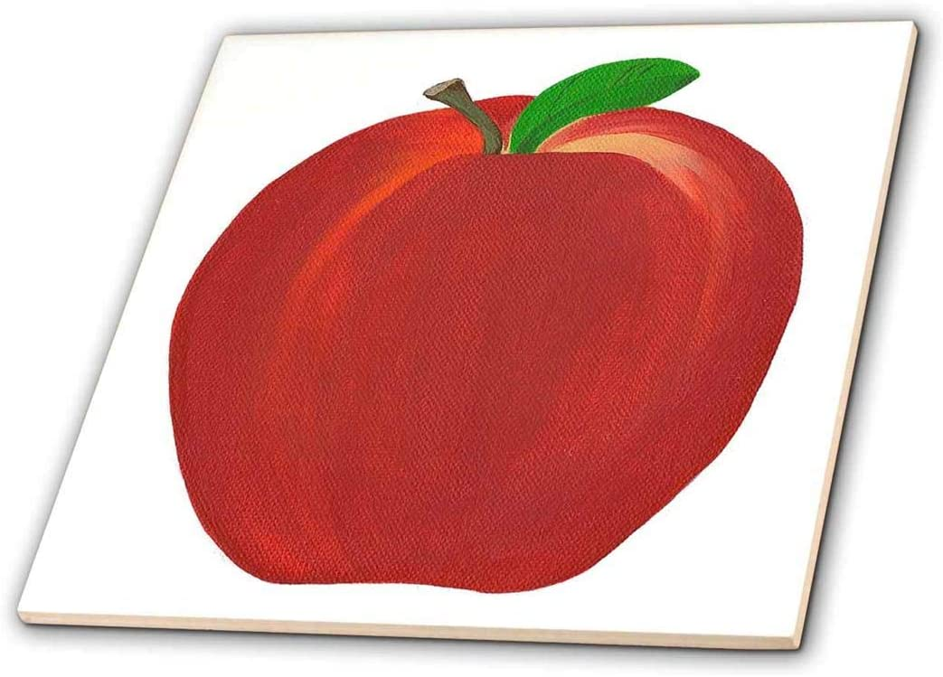 3dRose ct_13559_2 Red Apple-Ceramic Tile, 6-Inch