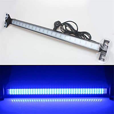 Clidr New Arrival 80 Led Strobe Light Windshield Car Flash Signal Emergency Warning Light Fireman Police Light Bar Beacon Car Truck Stroboscopes (blue): Automotive