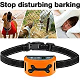 iBuddy Rechargeable Bark Collar for Small/Medium/Large Dogs [2018 Upgrade Version], Safety No Bark Collar with LCD Display and Beep/Vibration/Harmless Shock Mode Waterproof Bark Control Collar