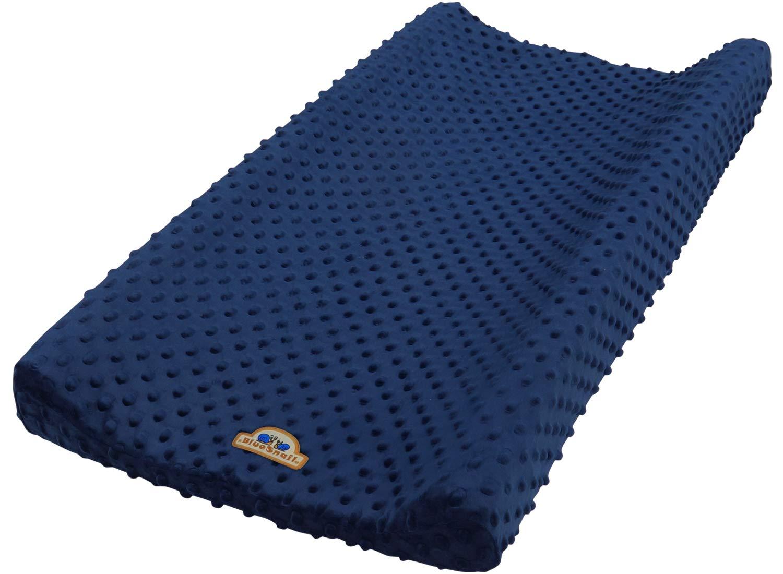 BlueSnail Ultra Soft Minky Dot Changing Pad Cover (Navy) by BlueSnail