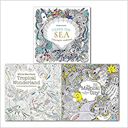 Colouring Book For Mindfulness Under The Sea And Magical City 3 Books Collection Set