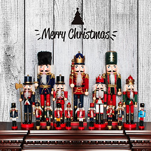 Jusdreen 10.3'' Christmas Nutcracker Ornaments Christmas Day Decoration Xmas Puppet Soldiers - Wooden by Jusdreen (Image #5)