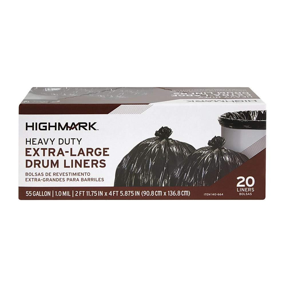 Amazon.com: Office Depot bolsas de basura, 55 litros, caja ...