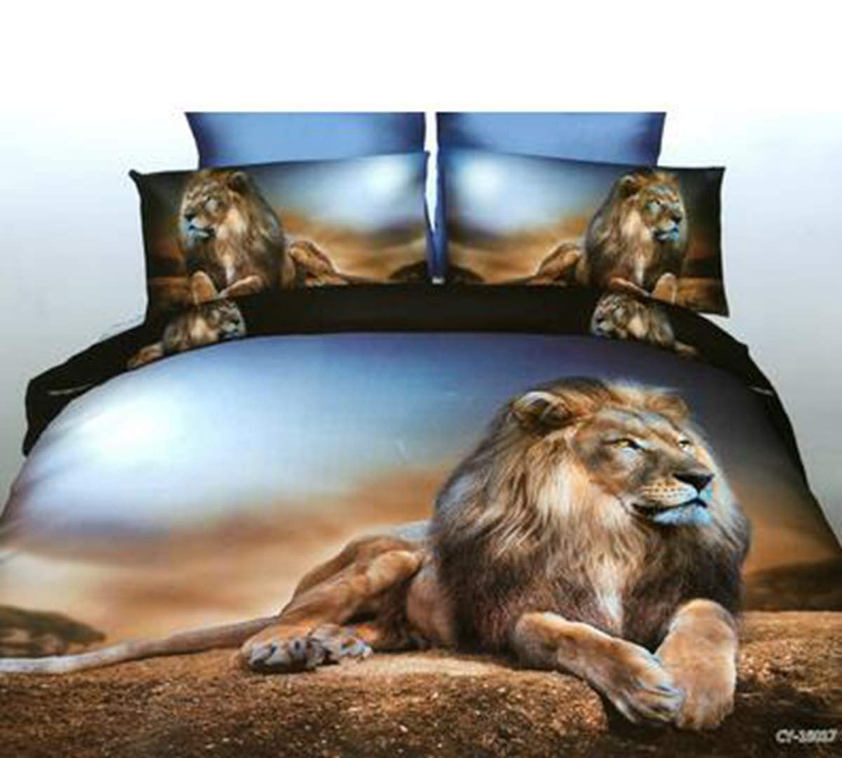 HUROohj 3D,The New Bedding Four Sets,European Style,Bedding Kits( 4 Pcs) for Bed Size Twin/Queen/King,-King