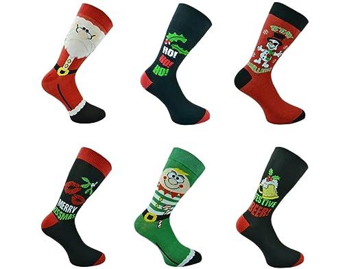 3x Pairs of Mens Novelty Fun Christmas Socks  UK 611 Eur 3945