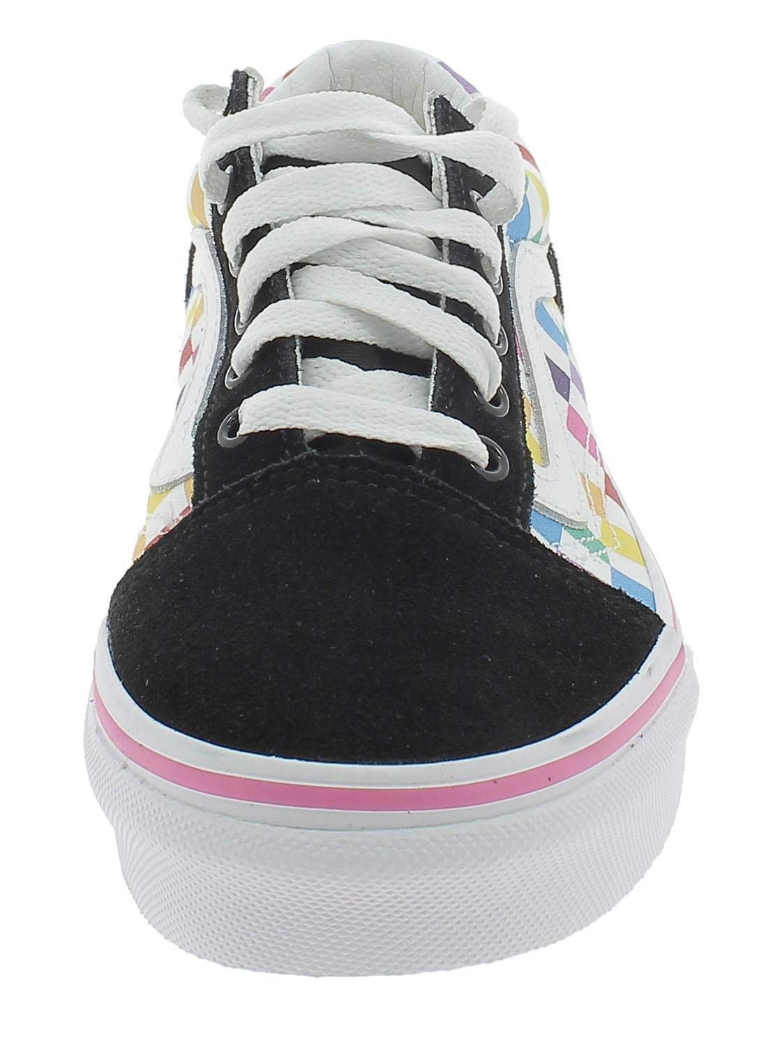 Vans Old Skool Arcoíris, diseño de Cuadros, Color Blanco