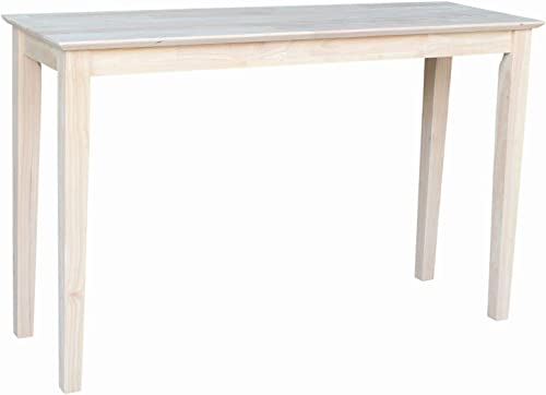 International Concepts Shaker Sofa Table, Unfinished