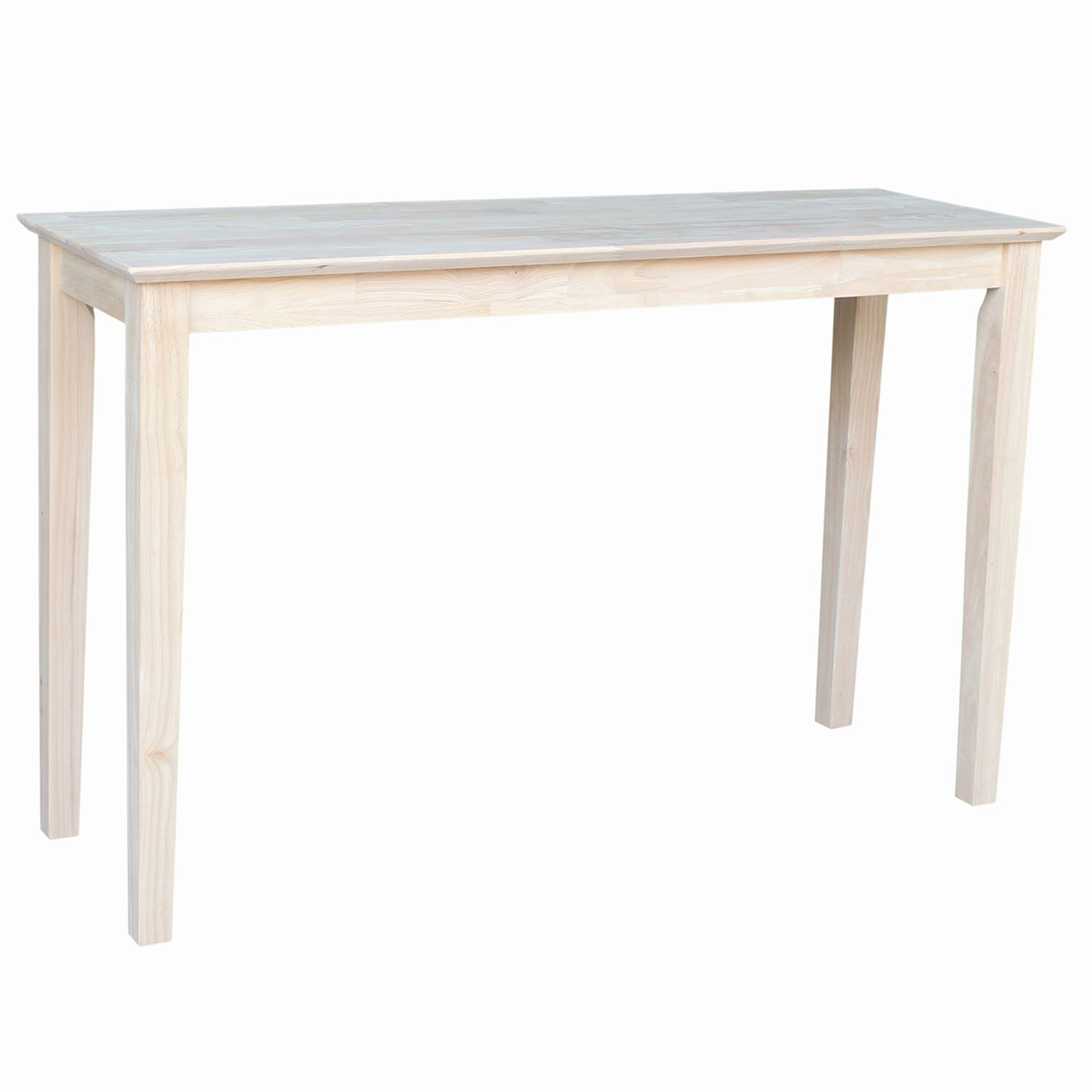 International Concepts OT-9S Shaker Sofa Table, Unfinished