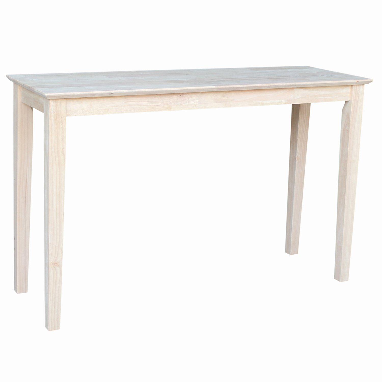 International Concepts OT-9S Shaker Sofa Table, Unfinished by International Concepts