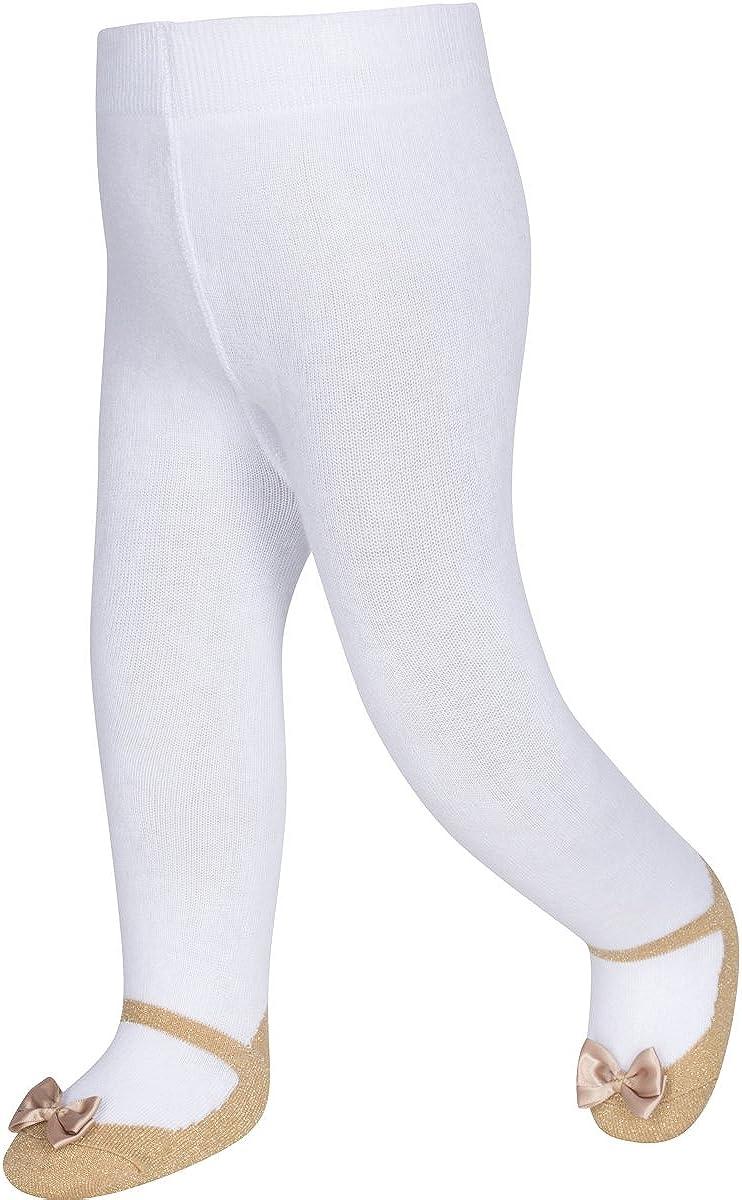 Baby Emporio Calzamaglia neonata con look scarpa stile Mary Jane antiscivolo in morbido cotone