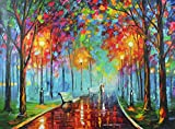 Misty Mood is a Limited Edition, Gallery Proof (GP) from the Edition of 250. The artwork is a hand-embellished, signed and numbered Giclee on Unstretched Canvas by Leonid Afremov. This wonderful artwork is one of Afremovs most popular images of all t...