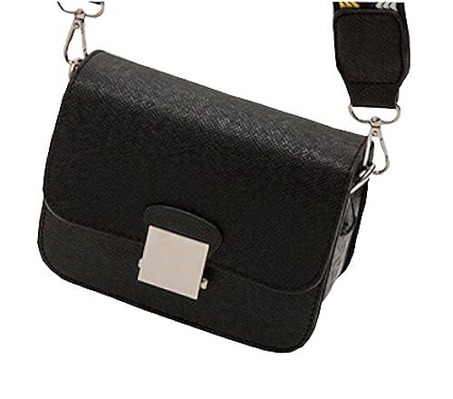 c55eee7ffe11 Women s Mini PU Leather Cross-body Bag Purse Handbags Clutch bag With 2  Wide and