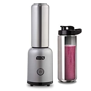 Dash Arctic Chill Blender: The Compact Personal Blender with Insulated Stainless-Steel Tumbler 16 oz + Travel Lid for Coffee Drinks, Frozen Cocktails, & Smoothies