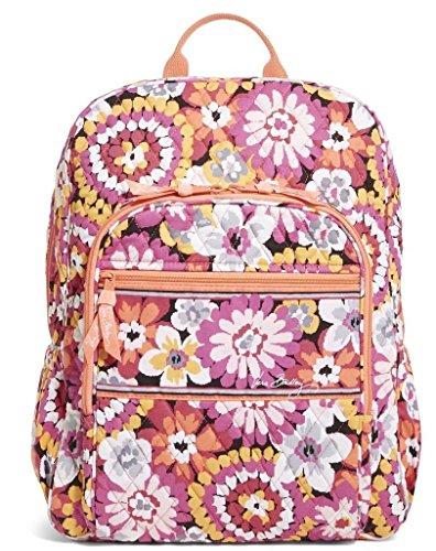Vera Bradley Womens Campus Backpack Pixie Blooms Backpack by Vera Bradley