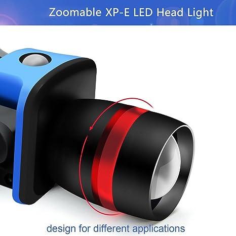 ThorFire Cree LED Cap Light Headlamp 3 Modes Ball Hat Lamp Flashlight Adjusta...