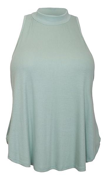 d7cb330b39b78 eVogues Plus Size Mock Turtleneck Sleeveless Peephole Back Top Green - 1X  at Amazon Women s Clothing store