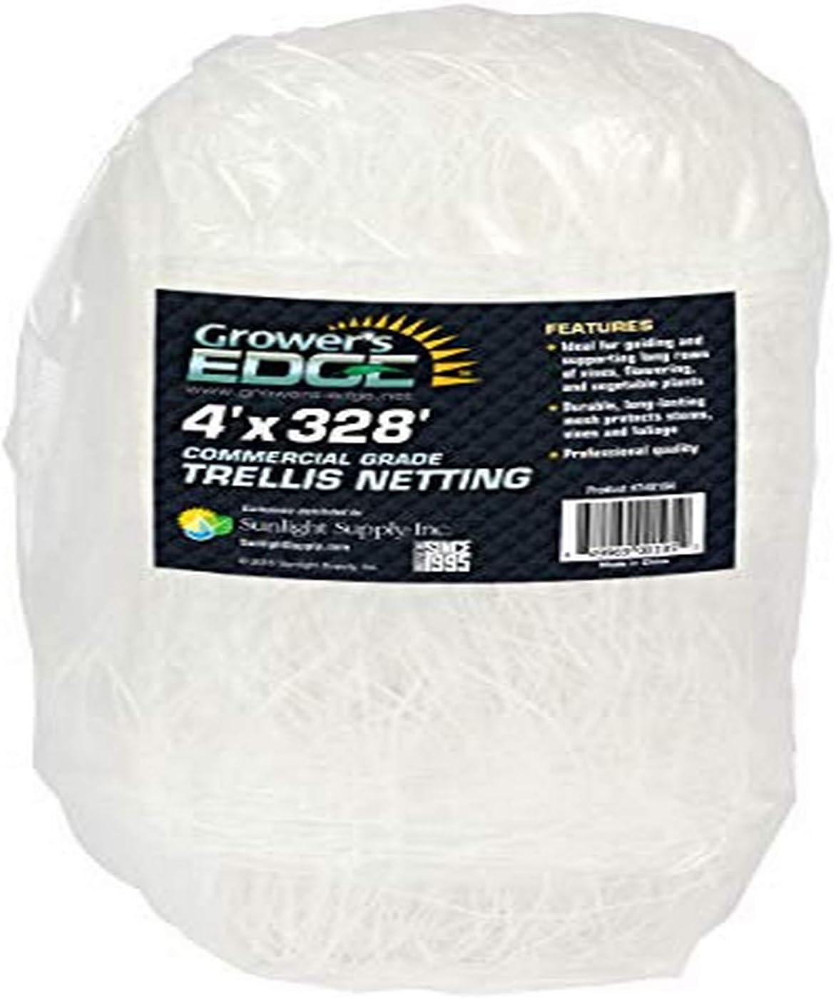 Grower's Edge 740164 Commercial Grade Trellis Netting, 48 Inch Width, 328 ft Length