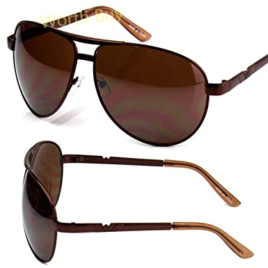 1a55c942f0b7 Amazon.com  Mens Aviator Pilot Sunglasses Shades Retro Fashion Designer  Round Wrap Large  Clothing