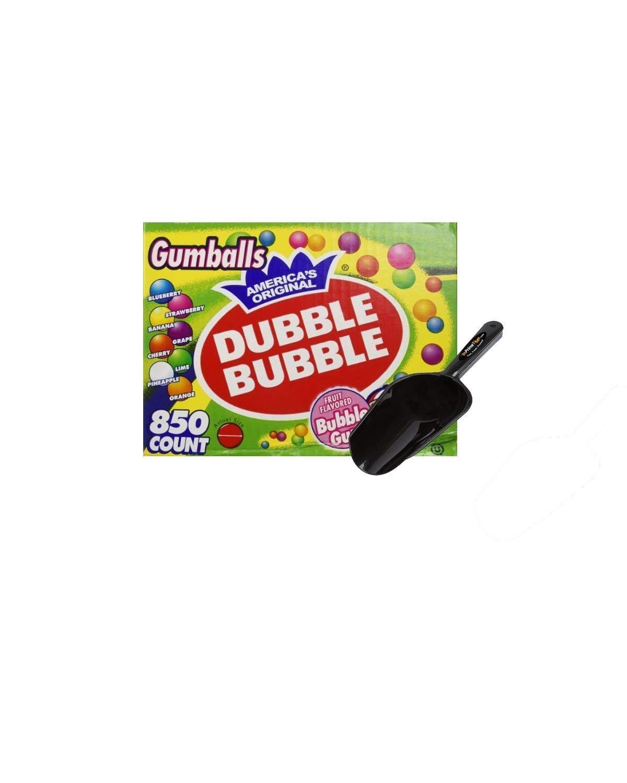 Dubble Bubble One Inch Gumballs 16 Pounds Assorted Flavors and Colors - 850 Count w/InPrimeTime Scoop by Dubble Bubble
