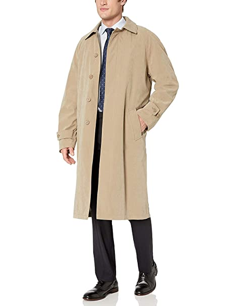 special price for luxury aesthetic finest selection Adam Baker Men's Single Breasted Full Length Trench Coat All Year Round  Raincoat